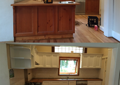 Kitchen-before and after